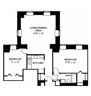 Mill #4, Two Bedroom Bay